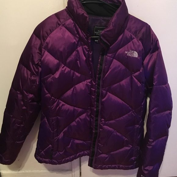 Purple north face jacket Great jacket, zipper is broken. North Face Jackets & Coats Puffers