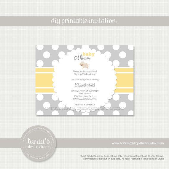 little lamb printable baby shower invitation by tania's design, Baby shower invitations