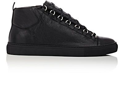 Leather sneakers, Mens high top shoes