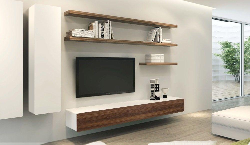 Ikon White Walnut Floating Entertainment Unit Delux Deco Living Room Pinterest Living