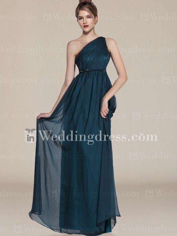 Elegant Chiffon One-Shoulder Bridesmaid Dresses BR323N | Wedding ...