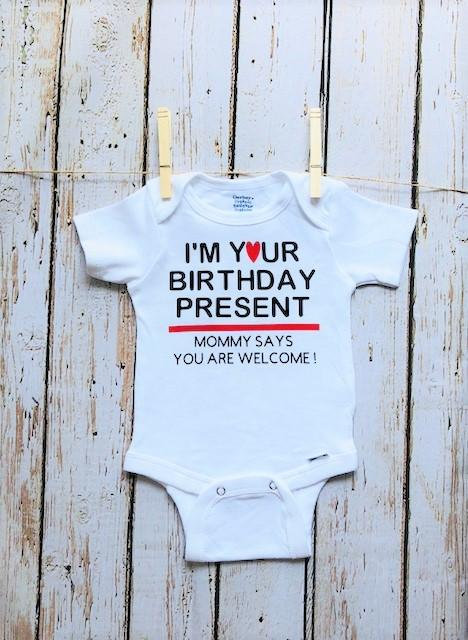I/'m Your Mother/'s Day Gift Dad Says Welcome Funny Cute Baby Long Sleeve Bodysuit