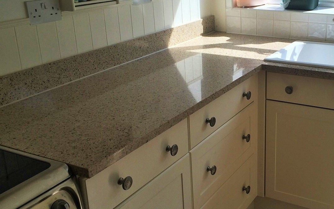 Silestone Bamboo Quartz Kitchen Worktops With Upstand