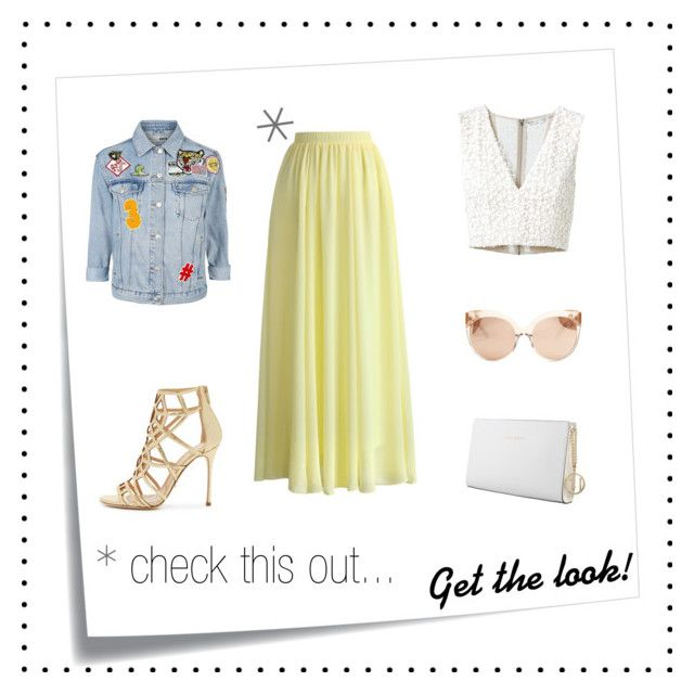 """""""Maxi Pastel Skirt!"""" by valentina-personalstylist ❤ liked on Polyvore featuring Chicwish, Alice + Olivia, Linda Farrow, Trussardi, Topshop, Sergio Rossi and Post-It"""