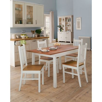 Chiltern extending oak veneer and painted wood dining table house pinterest dining table - Oak veneer dining table ...