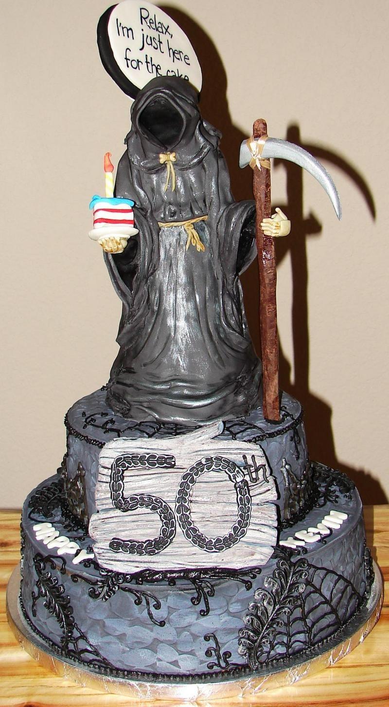 Grim Reaper Cake With Images Zombie Cake Magic Cake Kids Cake