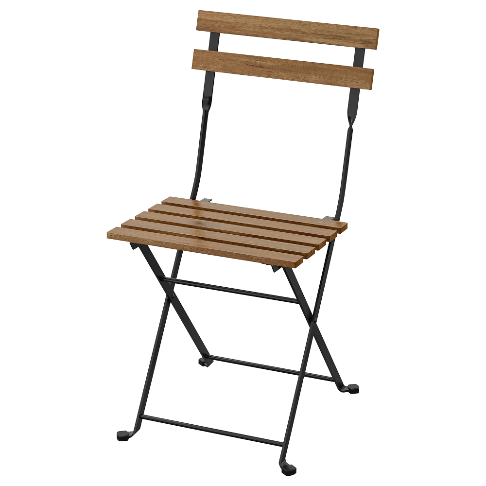 Tarno Chair Outdoor Foldable Acacia Black Gray Brown Stained