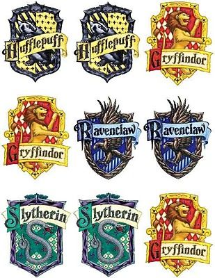 house badges creative and cheap fun and fabulous ultimate harry potter party harry potter. Black Bedroom Furniture Sets. Home Design Ideas