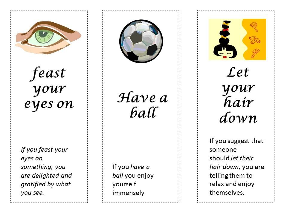 Bookmarks With Idiomatic Expressions Efl Pinterest Bookmarks