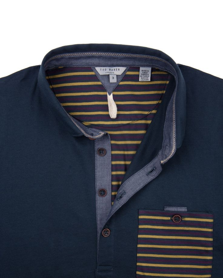 23ac01073e4656 Ted Baker Brillyo Contrast Pocket Polo Shirt in Gray for Men (charcoal)