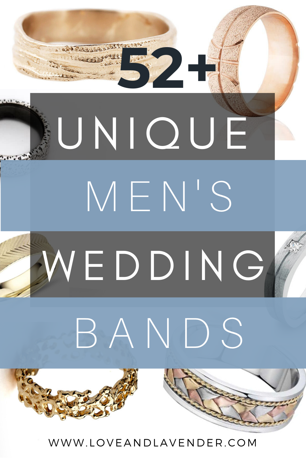 52 Stylish + Unique Mens Wedding Bands for 2020 in 2020