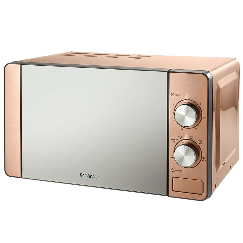 Black And Silver Kitchen Appliances: Goodmans Copper Microwave In 2019