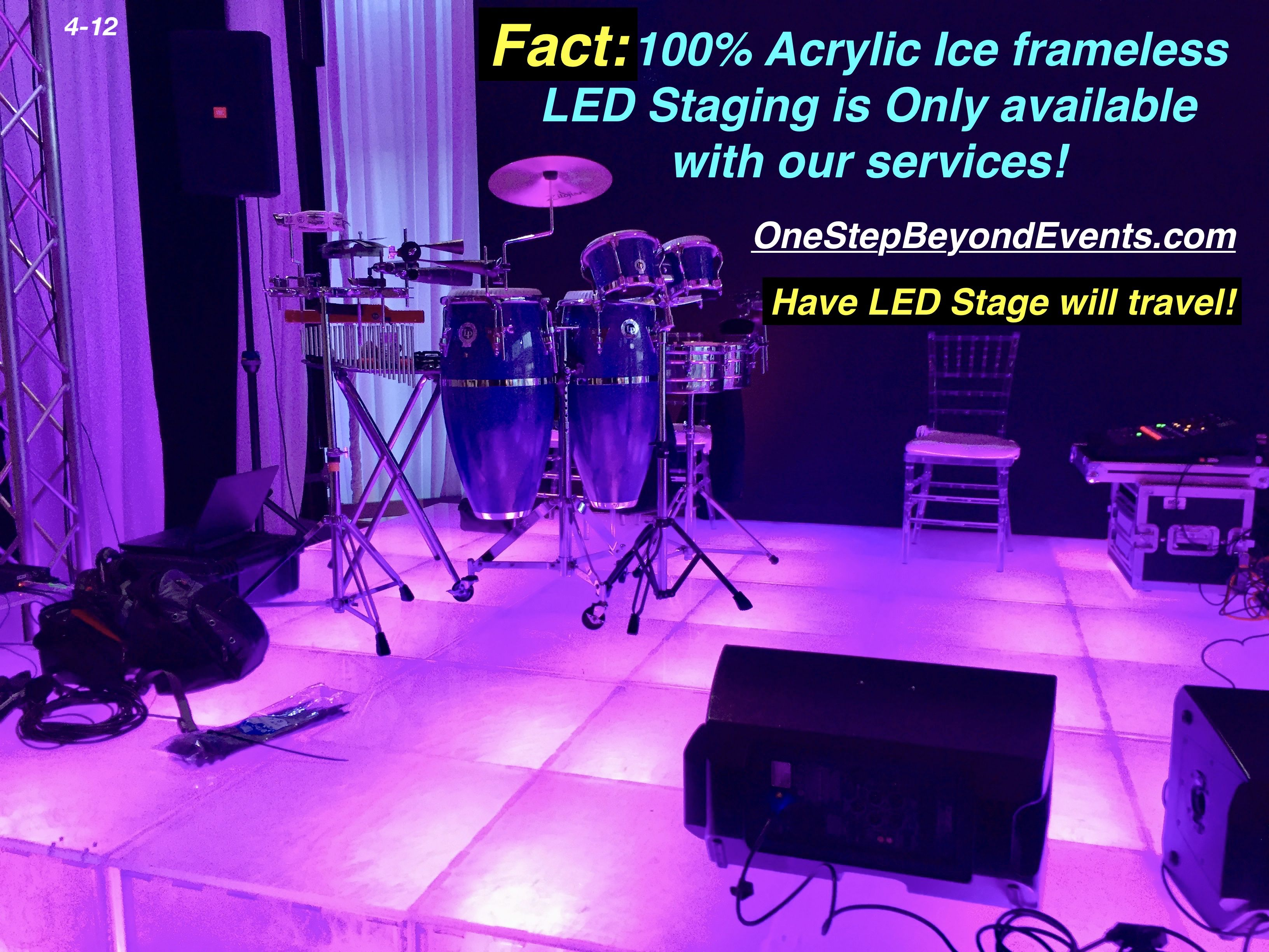 Stunning Led Event Stages Staging In 2020 Led Lights Light Up Glow Table