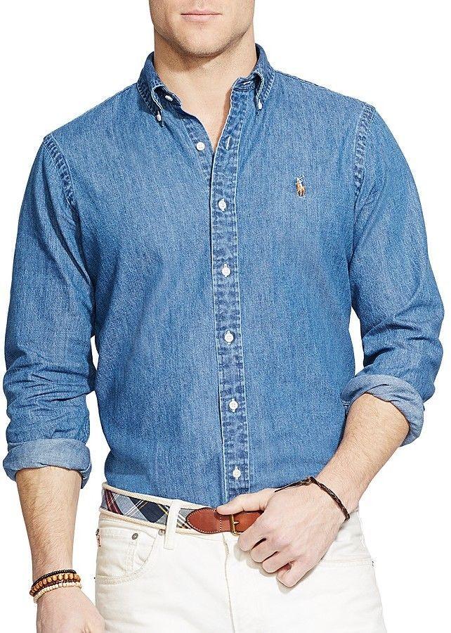 692b2de4da3 Polo Ralph Lauren Denim Button-Down Shirt - Classic Fit | Men's ...