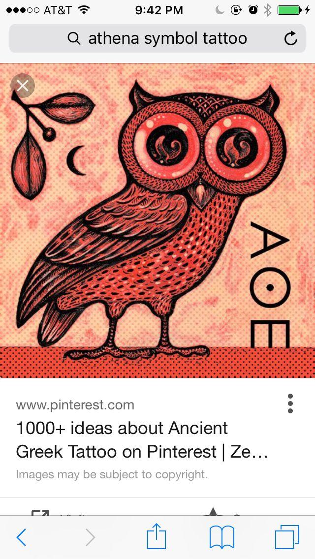 Athena Goddess Of Wisdom Symbol Tattoos Pinterest Tattoo