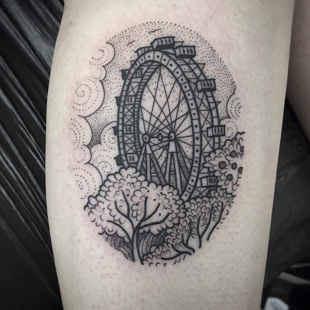 pictures 50 Ferris Wheel Tattoo Ideas For Men – Amusement Ride Designs