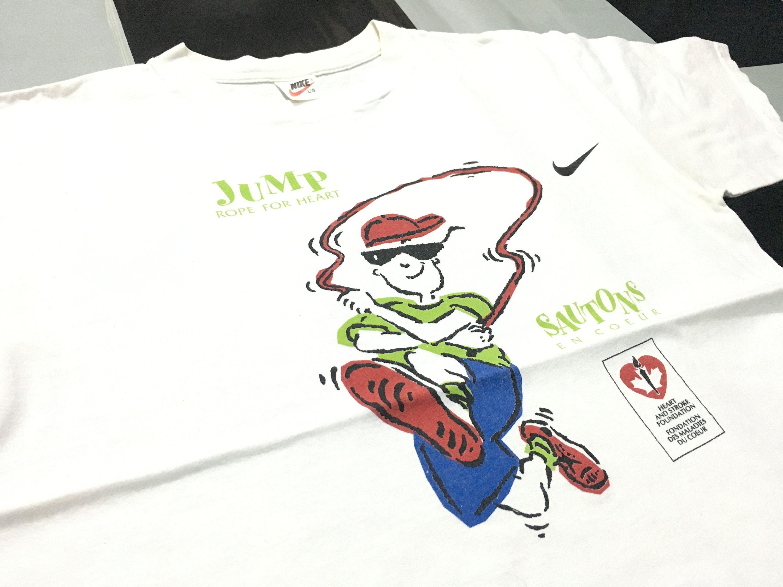 Vintage Nike shirt Jump rope for heart Nike swoosh logo