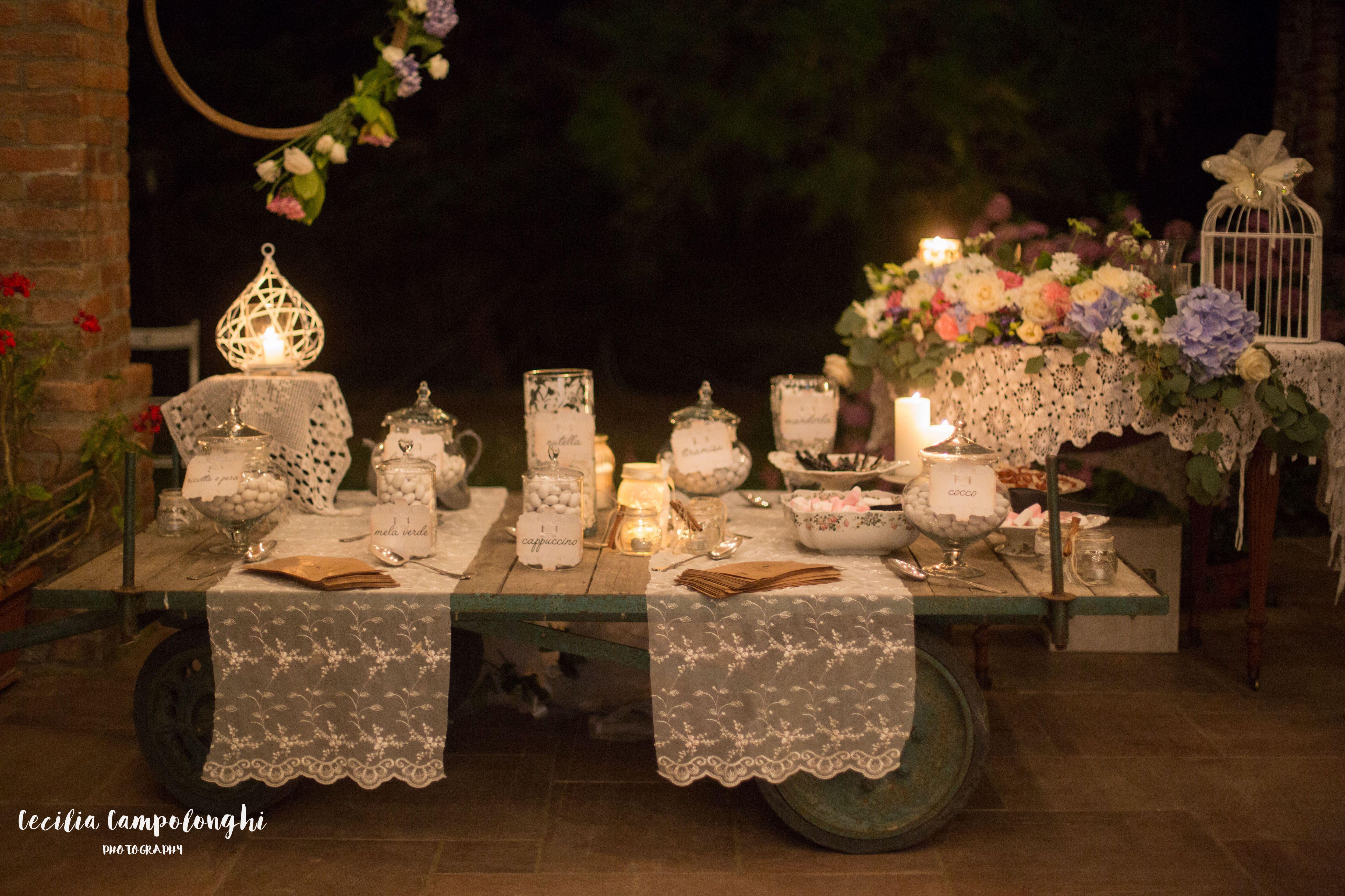 Candy Bar On The Cart Wedding Inspirations Per Confettata Wedding Planner Planner Confetti
