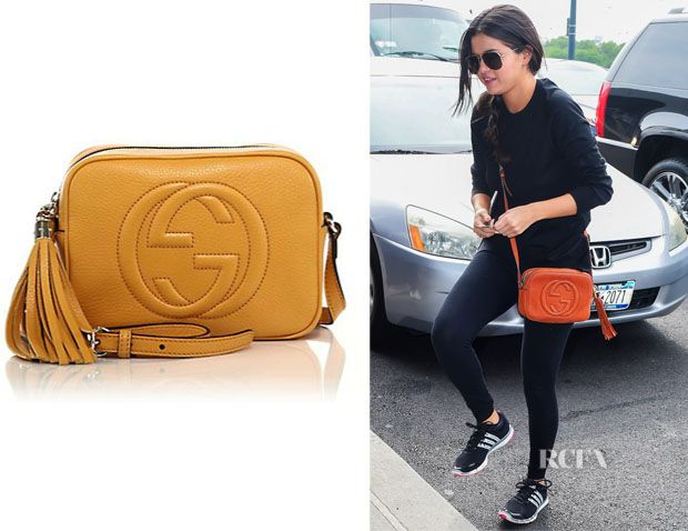 81a1b6a2f331 Selena Gomez with her Gucci Soho Disco bag | Beg for bags & other ...