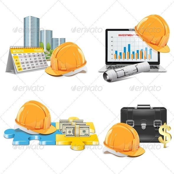 Vector Construction Investment Concept Illustrator cs5, Adobe - construction contract