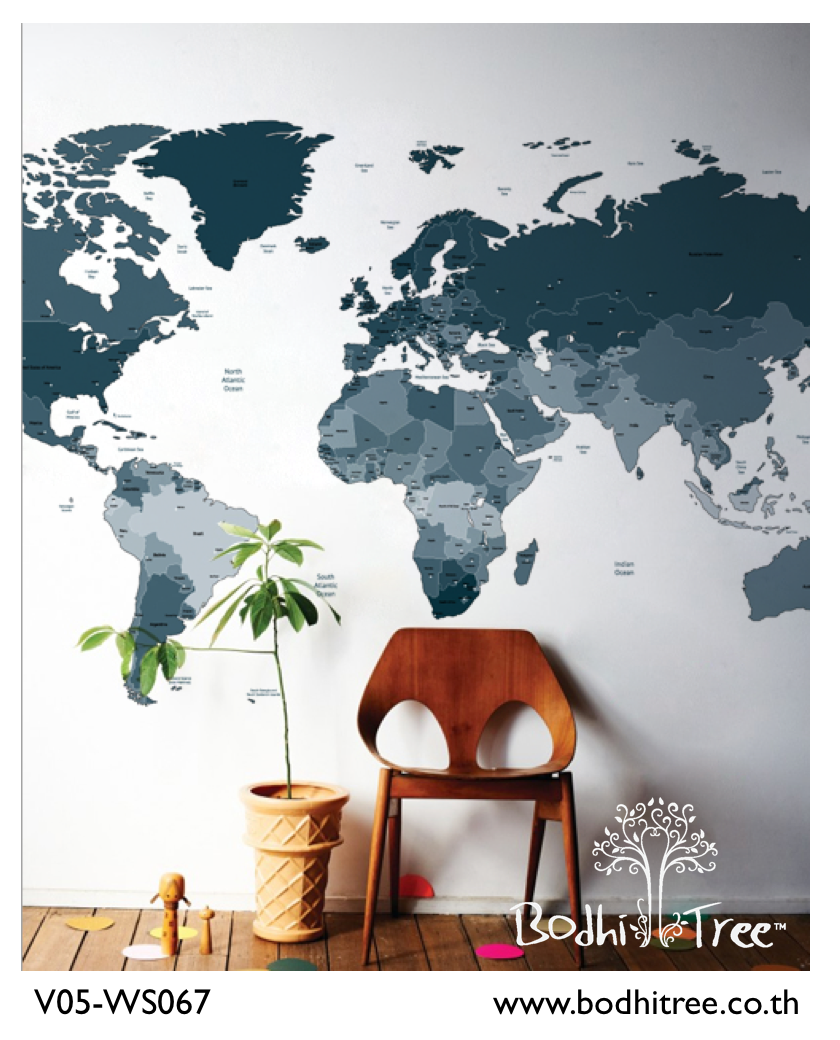 Bodhi tree grey and blue colour scheme world map wallpaper world bodhi tree grey and blue colour scheme world map wallpaper gumiabroncs Gallery