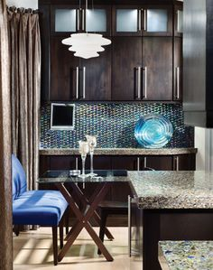 Blue Brown Kitchens Images