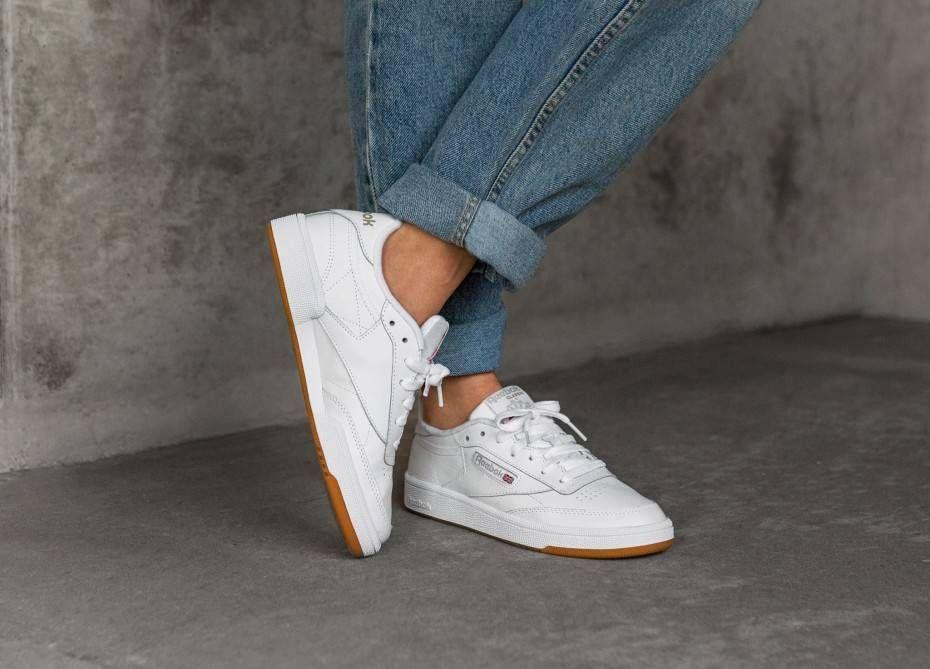 Reebok Club C 85 Reebok White Sneakers White Sneakers Outfit Reebok Club