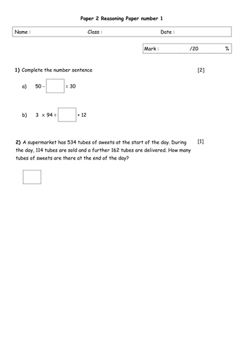Year 6 Maths Sats Questions 2 20 Grouped Topics By Govinderfan Teaching Resources Tes Year 6 Maths This Or That Questions Sats