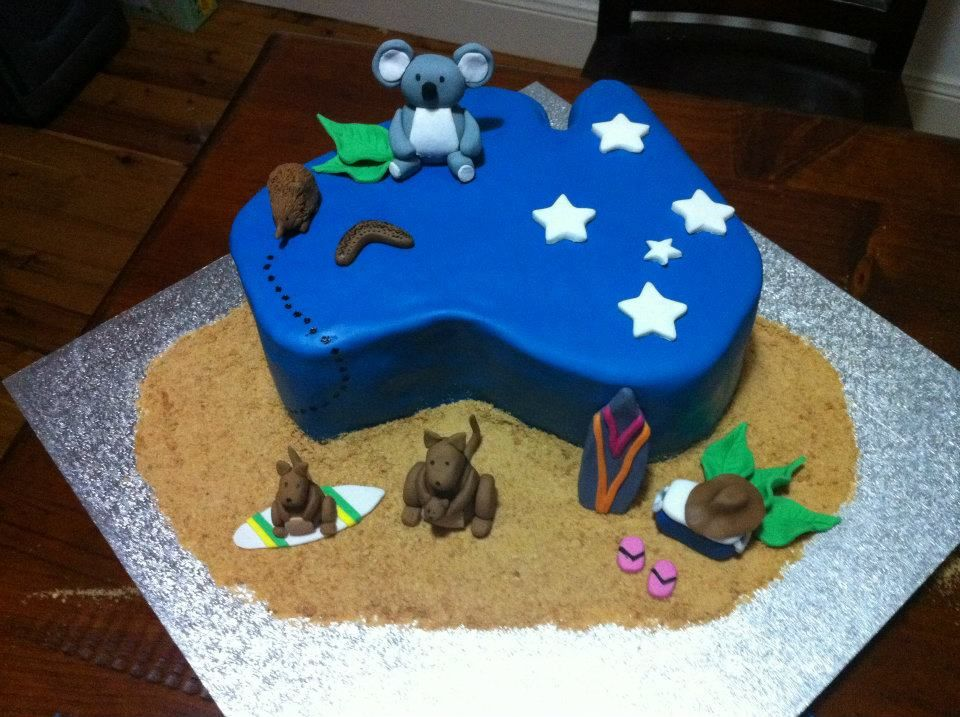 Aussie birthday cake made for a Japanese exchange student... Hey, Sugar  Sugar | Animal cakes, Cake, How to make cake