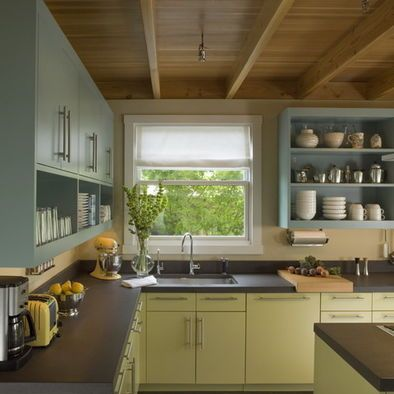 Eclectic Kitchen Design Pictures Remodel Decor And Ideas Page 2 Laminate Kitchen Cabinets Eclectic Kitchen Green Kitchen Cabinets