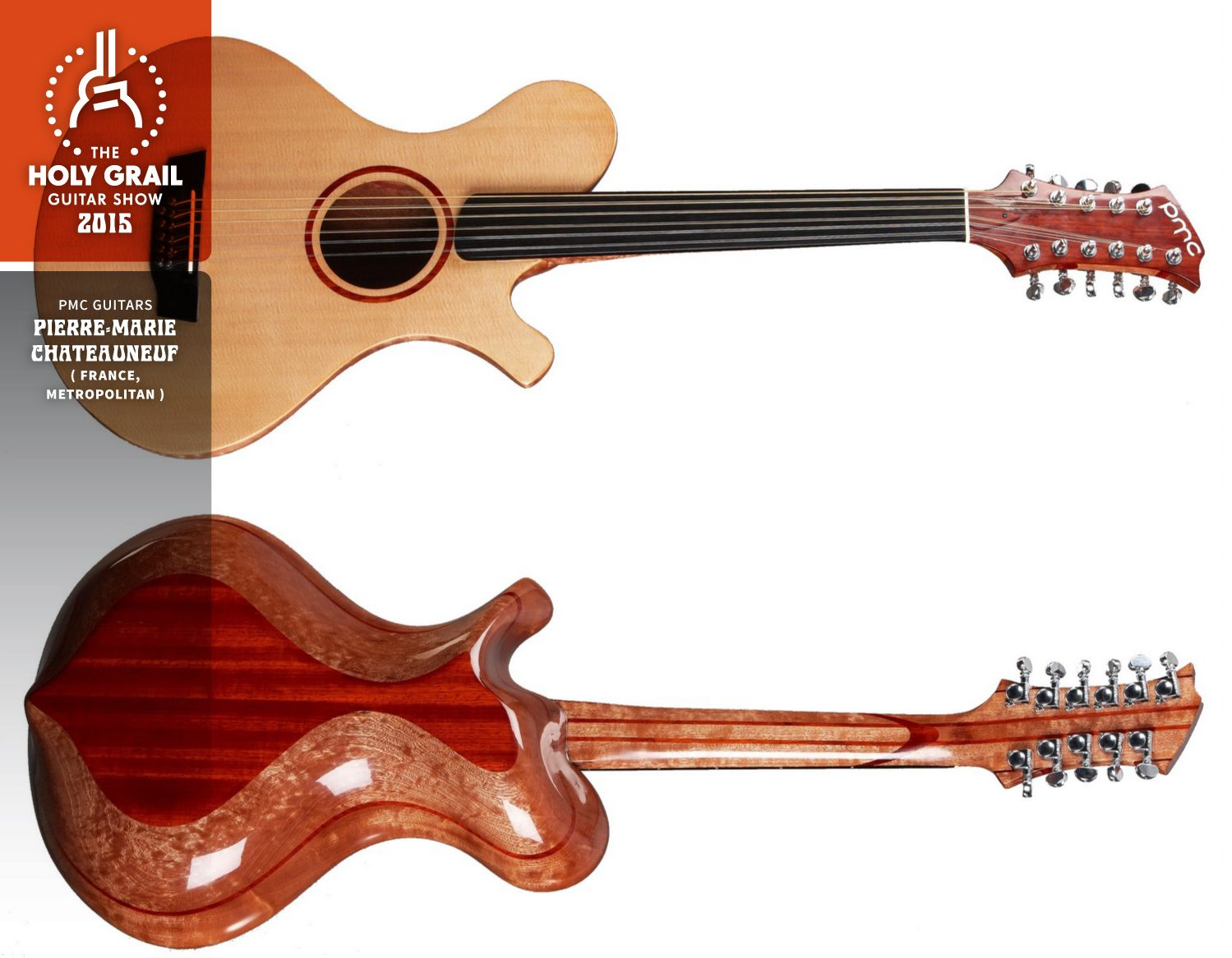 Exhibitor at the Holy Grail Guitar Show 2015:Pierre-Marie Chateauneuf, PMC Guitars, France, Metropolitan. http://www.pmcguitars.com/, https://www.facebook.com/pmcguitars, http://holygrailguitarshow.com/exhibitors/pmc-guitars/