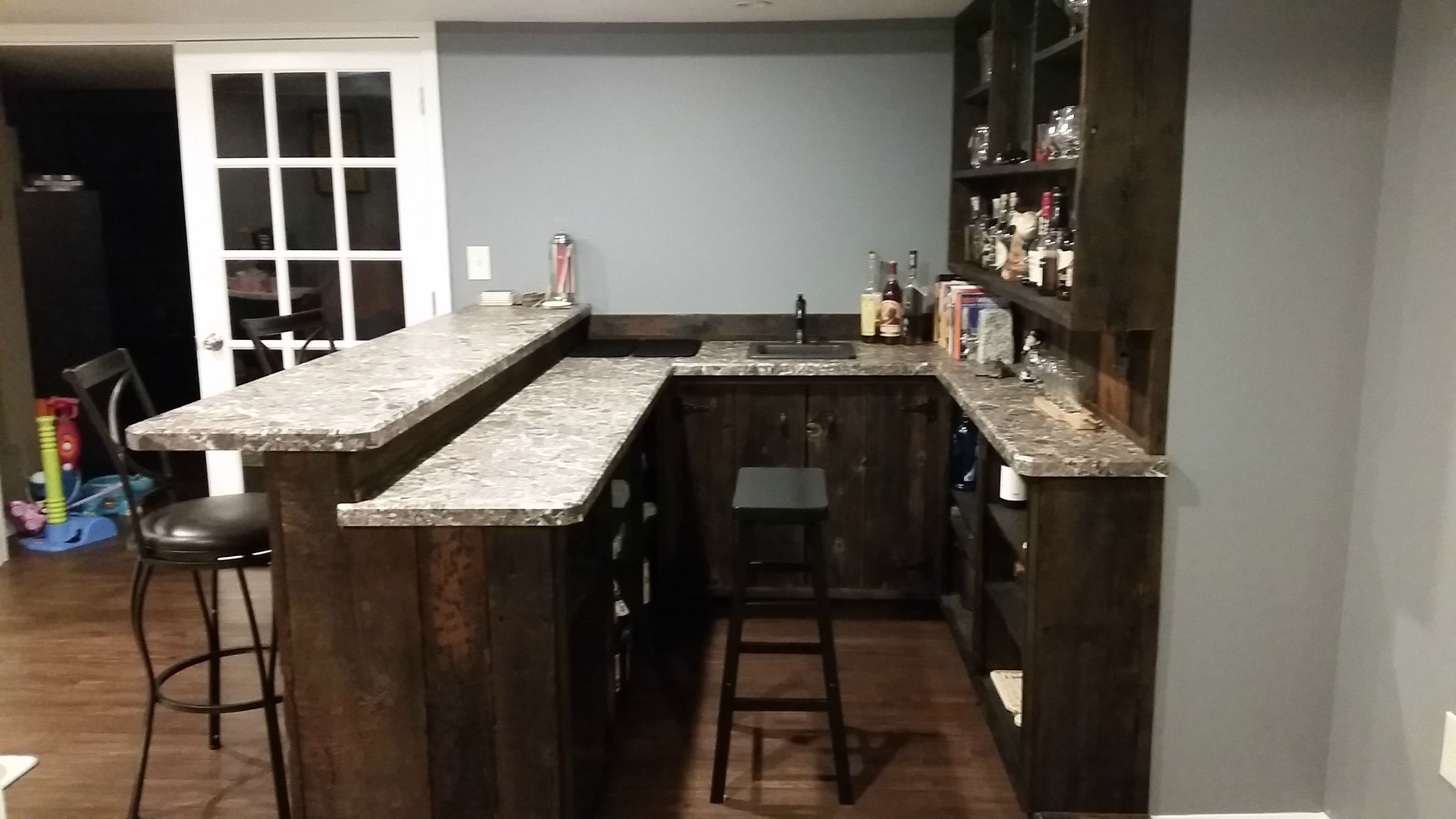 How Much Space Between Counter And Bar Community Beeradvocate In 2020 Minimal Kitchen Design Home Bar Counter Basement Bar