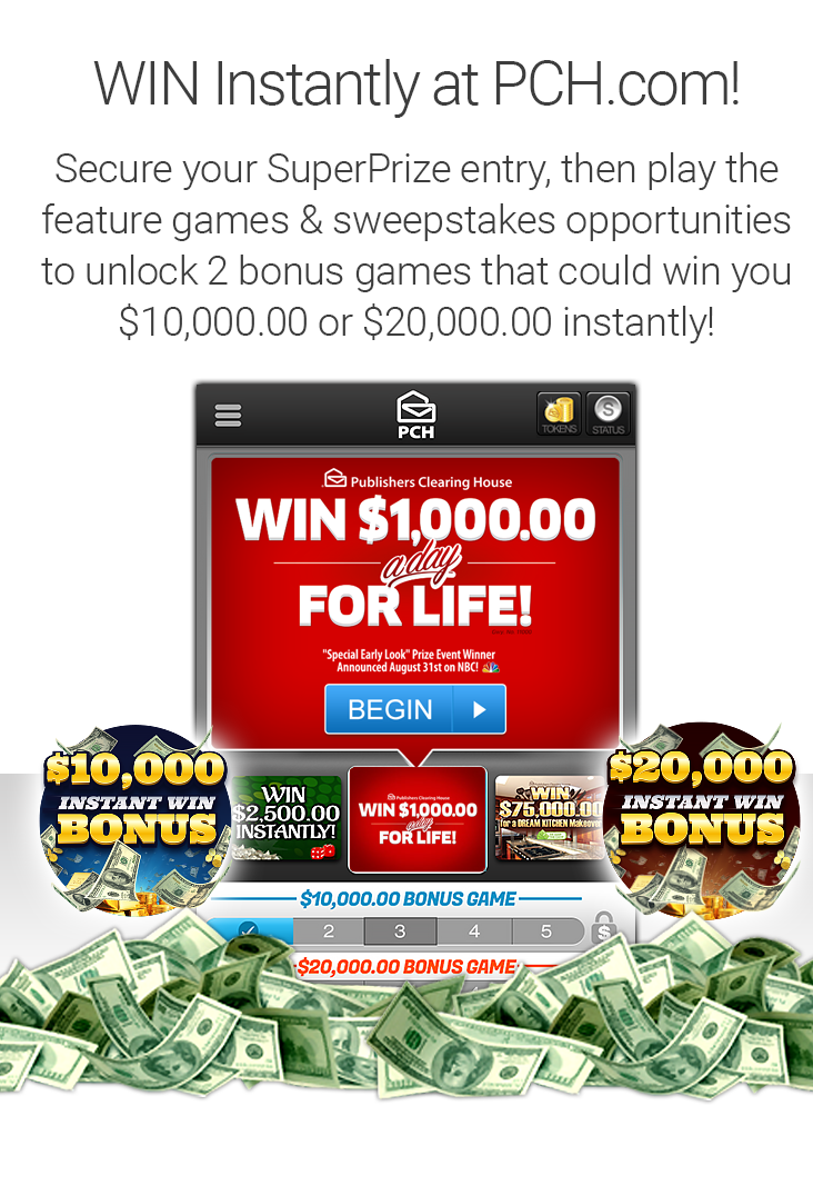 Token Games | PCH com | Pch | Online sweepstakes, Publisher
