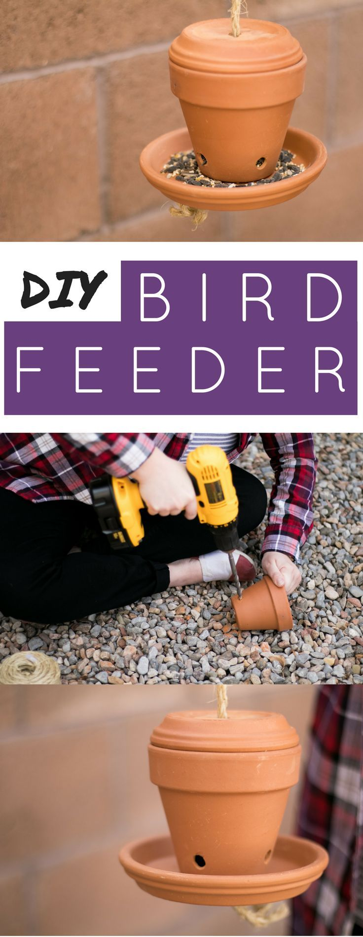 Pl plastic bottle bird feeder instructions - A Super Simple Diy Flower Pot Bird Feeder Step By Step Instructions To Build A Bird Feeder In No Time At All Perfect Feeder For Songbirds
