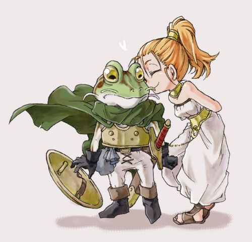 Frog and Marle, from Chrono Trigger (fanart)