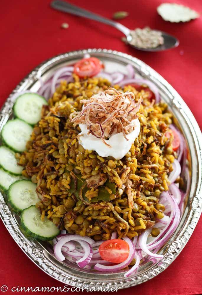 Mujaddara - Arabisches Linsen-Reis Gericht (Vegan)