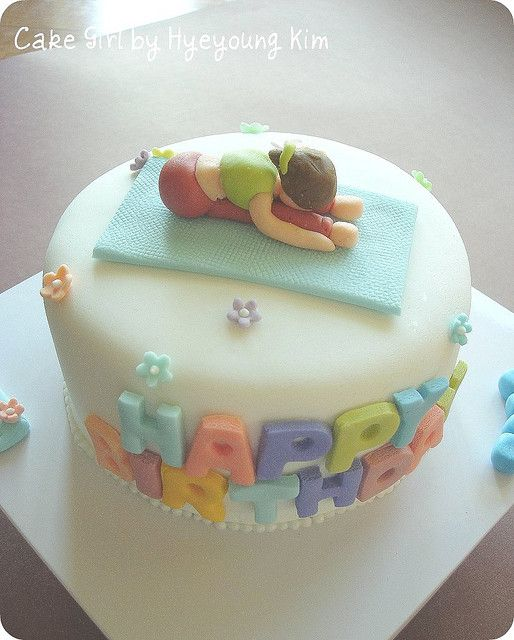 Tremendous Birthday Cake For Yoga Teacher Full Shot With Images 50Th Personalised Birthday Cards Beptaeletsinfo