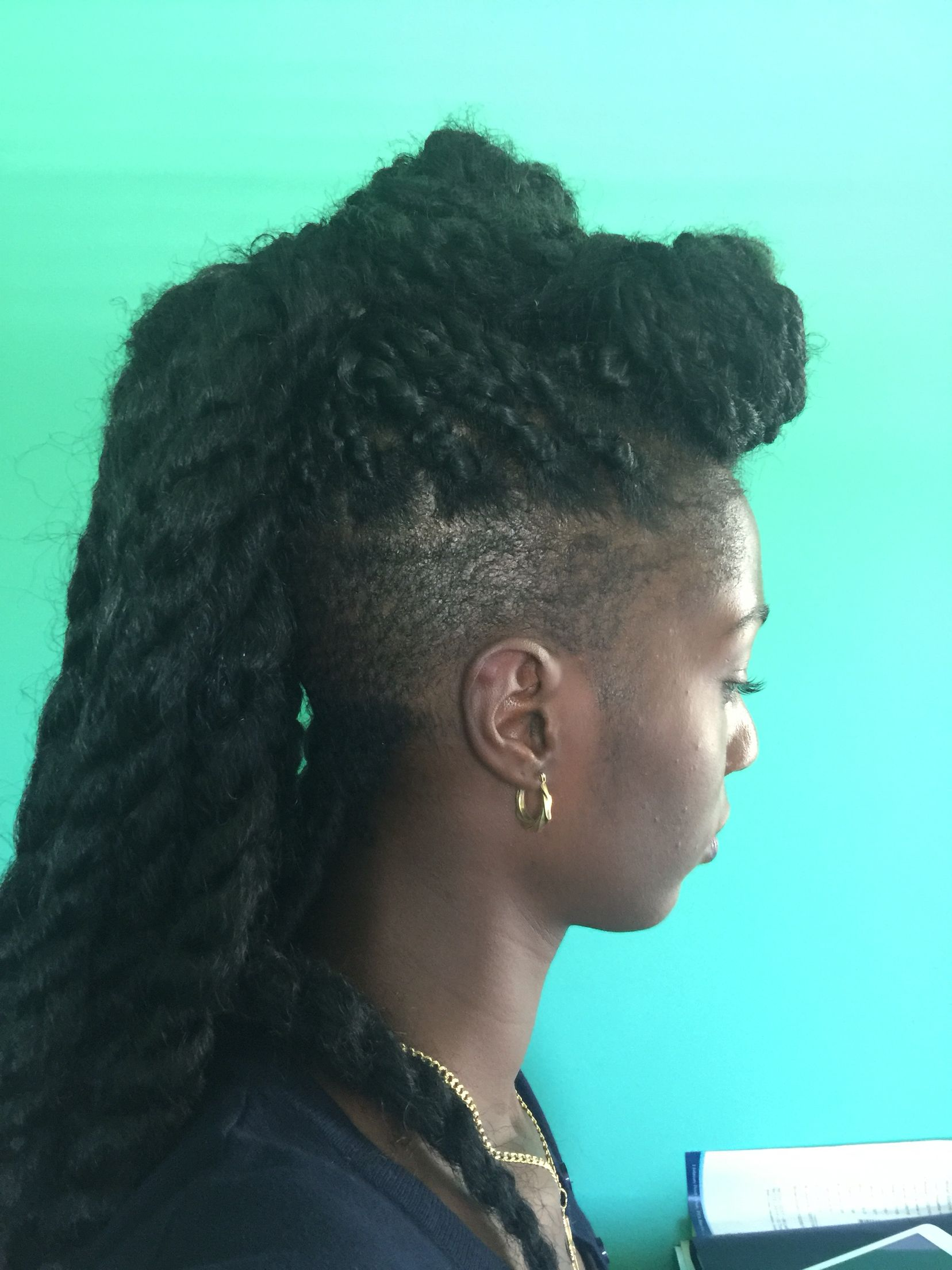 Marley braid in twist one loc my tapered cut natural hair journey
