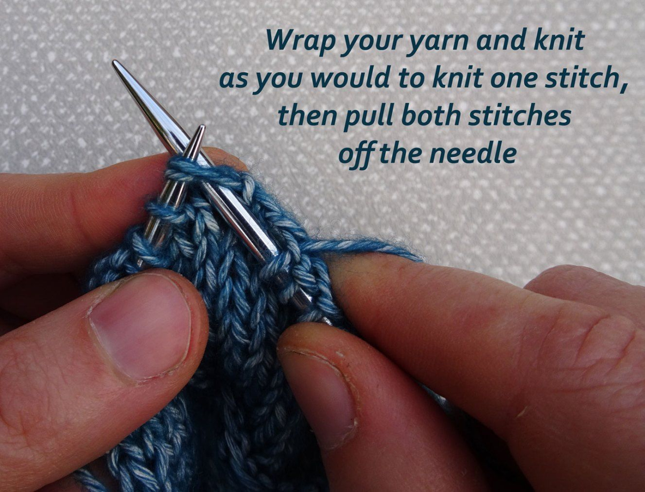 How to knit two together k2tog and purl two together