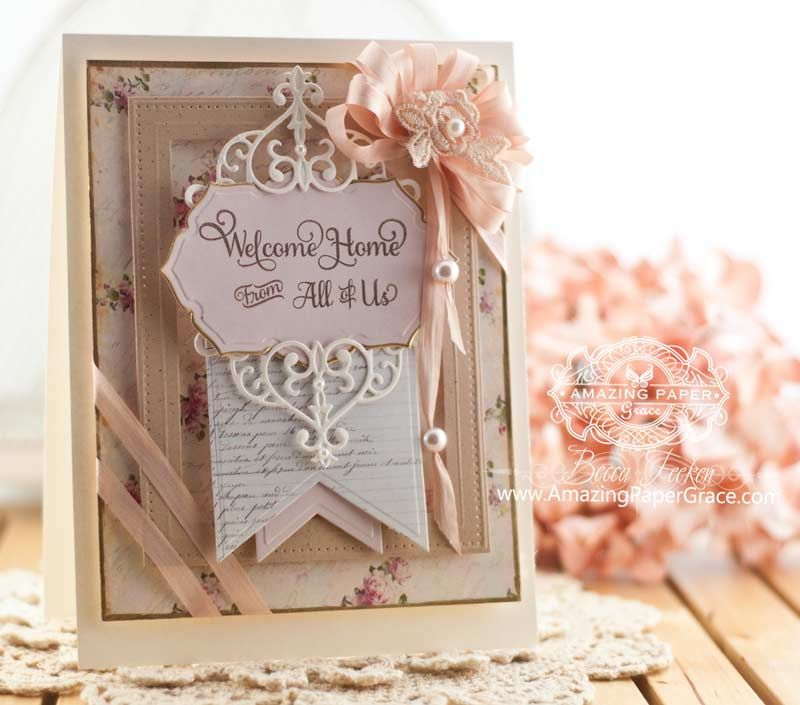 Large Card Making Ideas Part - 20: Card Making Ideas By Becca Feeken Using Spellbinders Vintage Labels Forty  Five - Www.amazingpapergrace