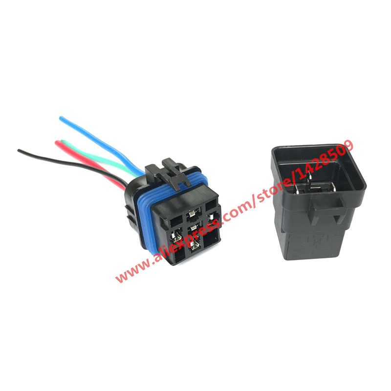 High Quality 5 Pin Automobile Relay 12v 40a With Plug And 12cm Wire Harness Automobile Modification Car Relay Waterpro Electrical Equipment Electricity Harness