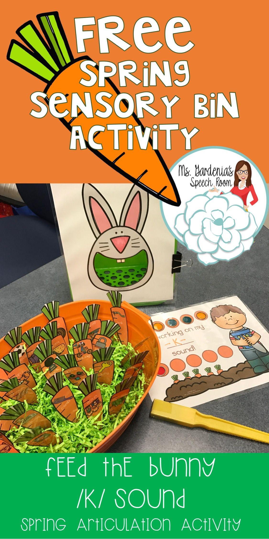 Free K Feed The Bunny Activity