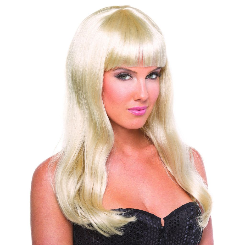 Blonde Solid Color Pop Diva Bangs Wig  Shop Rave Wonderland