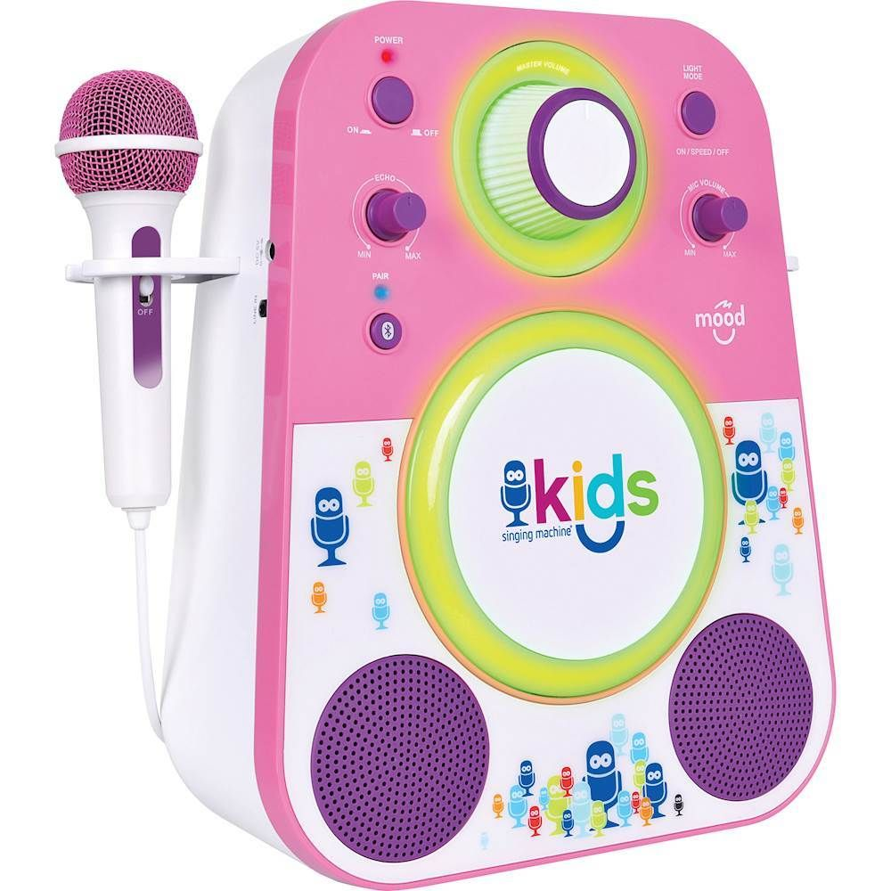 Singing Machine - Kids Mood Bluetooth Karaoke System - Pink/Purple #karaokesystem