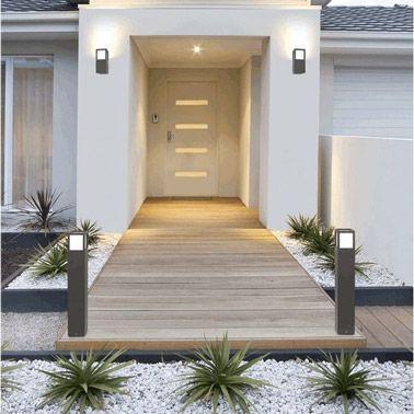 6 idées déco extérieure pour votre porte du0027entrée Front yards - idee deco entree maison