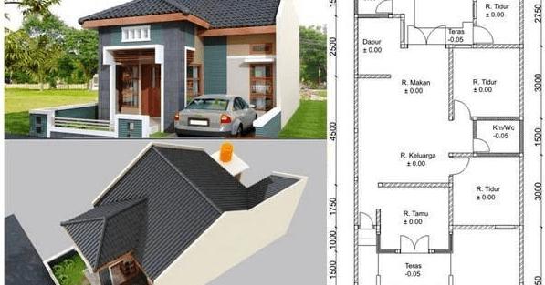 820+ Gambar Desain Rumah Minimalis 1 Lantai Type 45 Paling Keren Download