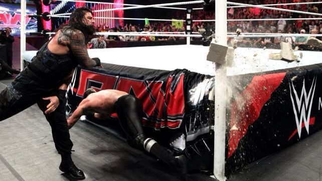 Roman Reigns attempts to kill Seth Rollins smh he should be arrested! xD