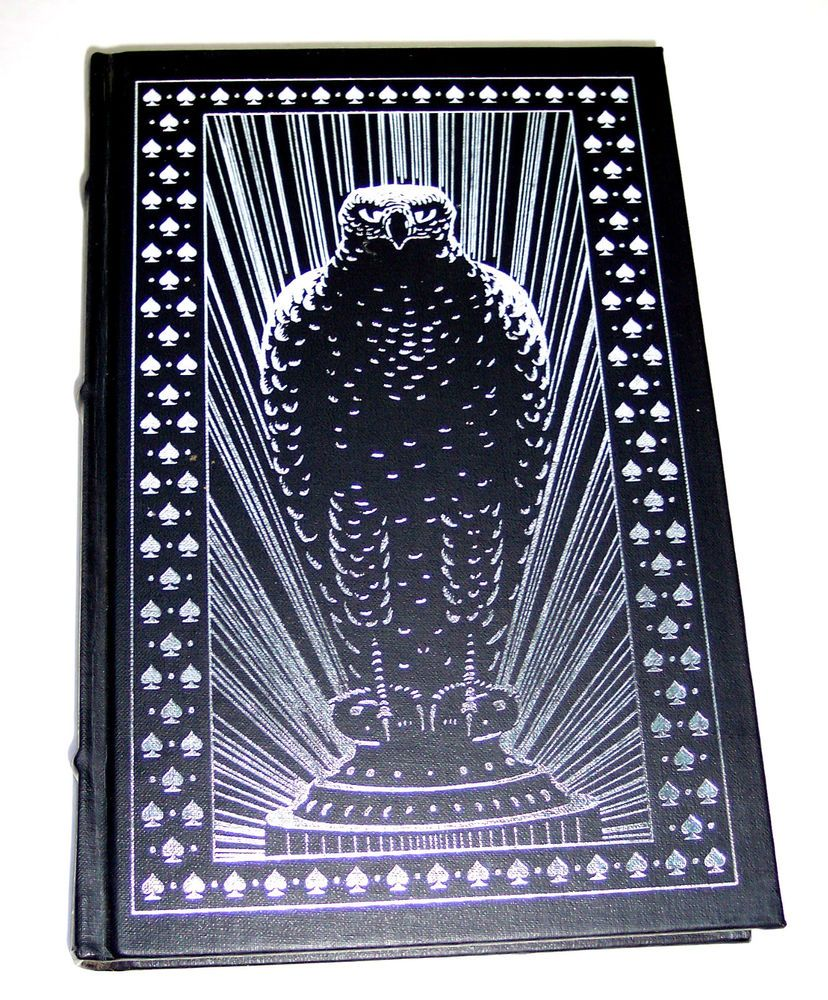 The Maltese Falcon Dashiell Hammett Franklin Mystery Hardcover Silver Leaf Edge Dashiell Hammett Maltese Mystery