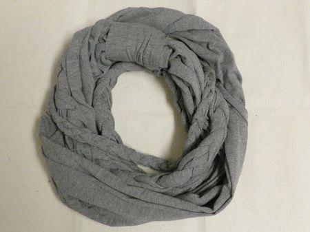 Como hacer bufandas redondas de tela   Bufanda de tela, Como hacer ...