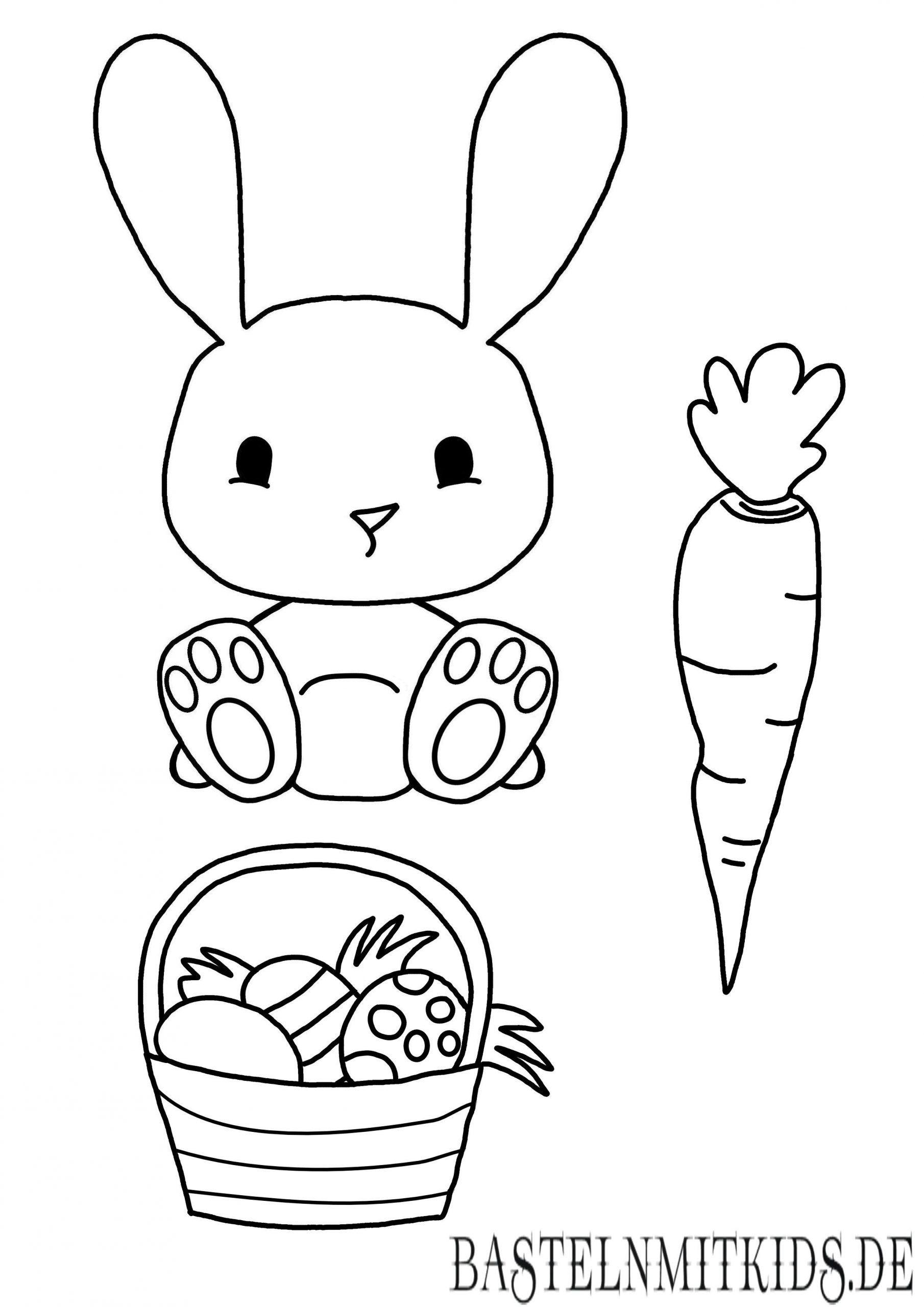 Malvorlagen Kostenlos Ostern Küken in 7  Hase vorlage zum